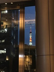 きれいな夜景に東京タワー
